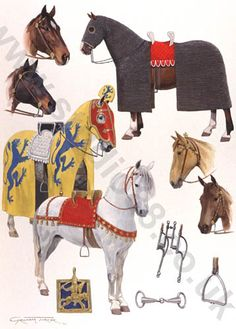 13th Century Horses - Original painting