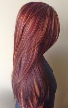 Trends 2018 Fall Hair Color Ideas Hair Colored hair tips brown hair color trends 2018 - Brown Things Hot Hair Colors, Red Hair Color, Red Color, Cherry Cola Hair Color, Burgundy Color, Cherry Coke Hair, Blonde Color, Black To Red Hair, Chocolate Cherry Hair Color