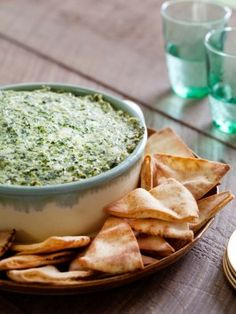 Warm Spinach and Artichoke Dip : Recipes : Cooking Channel