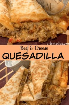 and Cheese quesadillas are super easy to make. They can be served as either an appetizer or main course.Beef and Cheese quesadillas are super easy to make. They can be served as either an appetizer or main course. Mexican Appetizers, Soup Appetizers, Mexican Food Recipes, Beef Recipes, Quick Appetizers, Tortilla Recipes, Delicious Appetizers, Chicken Recipes, Recipies