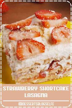 4.6 ★★★★★ - Check out this super-cute and easy recipe for strawberry shortcake lasagna from Delish.com! Easy to make, hard to resist. This no-bake Strawberry Shortcake Lasagna is all you need for your springtime party. Get the recipe at Delish.com. #DessertsBlogSelfe #delish #easy #recipe #nobake #dessert #dessertrecipe #DessertsforParties #easy #sweetsrecipe