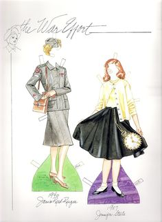 Fashion of the 40s & 50s - Paper Dolls Wardrobe by Norma Lu Meehan - edprint2000paperdolls - Picasa Web Albums