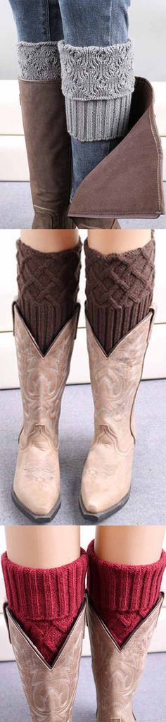 Absolutely perfect  you adorned with lovely boot cuffs. Hottest  fashion trend in CUPSHE.COM !
