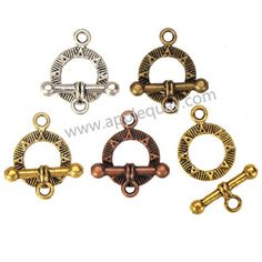 Zinc Alloy OT Clasps,Plated,Cadmium And Lead Free,Various Color For Choice,Approx 19*14.5.5mm,Bar:19*8*3mm,Hole:Approx 2.5mm,Sold By Bags,No 001946