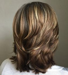 Medium Cut with Chunky Swoopy Layers from 60 Most Universal Modern Shag Haircut Solutions Medium Textured Hair, Medium Hair Cuts, Short Hair Cuts, Medium Cut, Hair Styles For Thick Hair Medium, Layers For Short Hair, Medium Length With Layers, Medium Choppy Layers, Cuts For Thick Hair