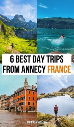 Annecy France is a wonderful city, with no shortage of things to do. But even if you still have plenty of things to do in Annecy, it's always great to leave the city for a day, to go on an epic day trip. annecy france things to do in | annecy france travel #summertravel #france Europe Destinations, Europe Travel Tips, Vacation Trips, Day Trips, Annecy France, Travel Inspiration, Travel Ideas, France Travel, Summer Travel