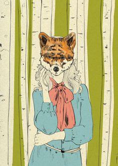 Foxy lady Art Print