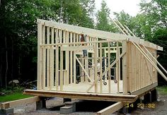 you considered a with a shed or low sloped roof? It sounds like you will be relegated to a single story. Any building practices, such as trusses . Shed Roof Design, Shed Design Plans, Shed Plans, Flat Roof Shed, Building A Shed Roof, Building Ideas, Building Plans, Lean To Shed, Modern Roofing