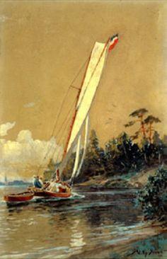 Willy Stöwer - Segeln auf der Havel; ein Binnenkreuzer (1904)