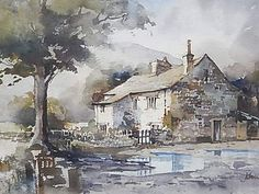 JOHN SIBSON Original watercolour painting signed-Framed -Yorkshire Listed artist