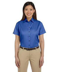 Ladies 39 custom embroidered shirt products pinterest for Company shirts with logo no minimum