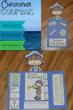 Let's celebrate Columbus Day with a Christopher Columbus lapbook activity. This famous explorer can open up a world of discovery and fun to your classroom and this lapbook activity can do that for you! Perfect for nearly any Columbus Day activities. The lapbook for Columbus Day includes a nonfiction passage about Christopher Columbus' first voyage, key vocabulary, timeline, writing prompt, and information about the books. There are also comprehension questions about the passage.