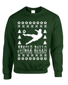 Adult Sweatshirt Jingle Balls Soccer Ugly Xmas Sport Fans Present