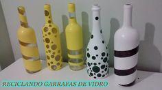 Faça você mesma - Reciclando garrafas de vidro para decorar a casa! - YouTube
