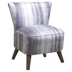 Tara Accent Chair with tie-dye upholstery and cone legs.