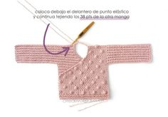 Learn how to make this Crochet Baby Kimono Jacket with Bobble Stitches. FREE Step by Step Tutorial & Pattern. Baby Cardigan Knitting Pattern, Crochet Jacket, Baby Knitting Patterns, Baby Patterns, Dress Patterns, Crochet Patterns, Kimono Pattern Free, Jacket Pattern, Free Pattern