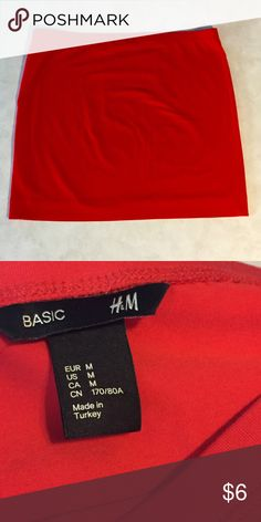 Skirt Red body-con skirt. Could be dressed up or dressed down. Never been worn. H&M Skirts Midi