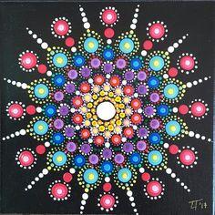 Original mandala - acrylic on canvas cm 15x15