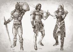 My favorite characters in skyrim.V1 by aenaluck