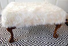 DIY Fur Ottoman DIY Furniture