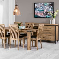 Entertain in style! Indiana 7 piece Dining Suite $899 save $300 & Buffet $599 save $230.  #dining #diningsuite #diningroom #dininginspiration #style #timber #entertain