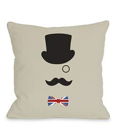 Take a look at this A British Gentleman Throw Pillow by OneBellaCasa on #zulily today!
