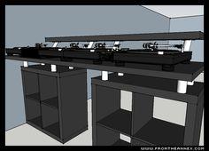Dj controllers : Advantages of been a digital DJ controller Home Studio Musik, Studio Desk, Dj Setup, Room Setup, Cabine Do Dj, Dj Stand, Dj Table, Music Recording Studio, Such Und Find