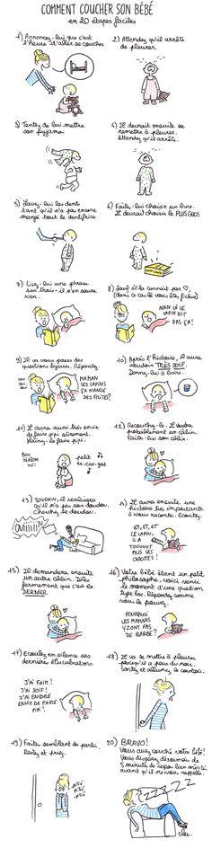 Comment coucher son bébé en 20 étapes - Confidentielles