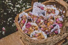 Quirky Outdoor Farmyard Chic Wedding Confetti Doily Cones http://www.noeldeasington.com/