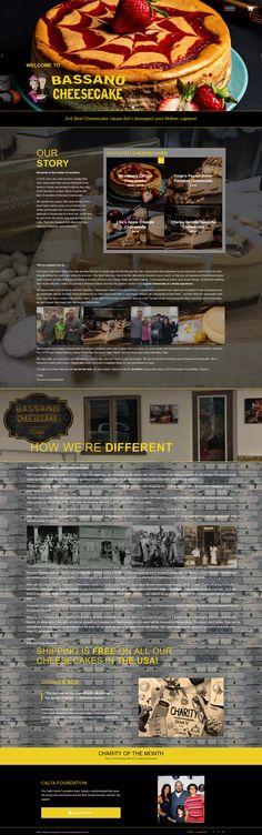 New York-style cheesecake shop and cafe website New York Style Cheesecake, Service Awards, Charity, Wordpress, Web Design, Website, Creative, Shop, Design Web