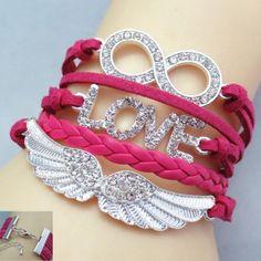 Chic Rhinestone Decorated Wing Shape Women's Bracelet