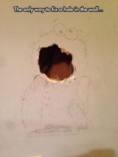 Fixing hole in wall