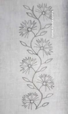 This Pin Was Discovered By Border Embroidery Designs, Bead Embroidery Patterns, Beading Patterns, Cross Stitch Embroidery, Machine Embroidery Designs, Hand Embroidery Flowers, Silk Ribbon Embroidery, Hand Work Design, Ribbon Art