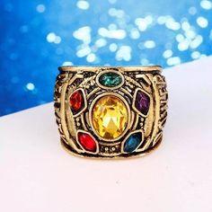 Avengers Infinity War inspired Thanos Ring. Marvel. Movie. Avengers.  Infinity. Universe. Gems. Gauntlet. d2f6d482cf83