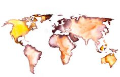 watercolor the world - World Map Watercolor Art by Elena Romanova