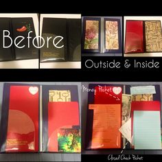 DIY server book! A little time consuming but I absolutely love it! It's sturdier and way more colorful than just covering it with duct tape. Made some extra pockets inside as well. S/O to my mom for helping me make this beauty!
