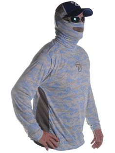 8c4931d2420c2 Breathe Like A Fish Men s Long Sleeve Camo With Mesh And Mask