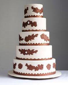 Brown theme wedding cake