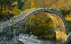 Carrbridge, the Highlands, Scotland. Circa The Oldest Stone Bridge in Scotland. Skye Scotland, Scotland Travel, Highlands Scotland, Scotland Trip, Old Bridges, Cairngorms National Park, Scotland Castles, Old Stone, Places Of Interest