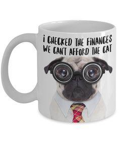 PUG MUG Pug Dog With Aqua Blue Glasses Because A Mug Needs A Pug