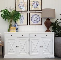 LEFT OR RIGHT? The South Hamptons 4 Door Sideboard is one of our most popular pieces. Which finish do you prefer? White or White with Limewash Top? (Also available in black with limewash Top. Exclusive to Canalside Interiors South Hampton, Hamptons Style Decor, The Hamptons, Hampton Furniture, White Buffet, Dining Room Buffet, Sideboard Buffet, Hallway Console, Painted Buffet