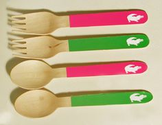 Preppy+Alligator+Forks+or+Spoons++Set+of+20++by+WhenIWasYourAge,+$10.00