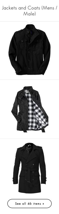"""""""Jackets and Coats (Mens / Male)"""" by legg ❤ liked on Polyvore featuring men's fashion, men's clothing, jackets, men, men's outerwear, men's coats, tops, male clothes, uniform and outerwear"""