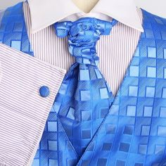Blue Checkered Formal Vest for Men Gift Idea with Tuxedo Vests ,Cufflinks, Hanky and Ascot Tie Set for Suit Y VS2034 - http://www.styledetails.com/blue-checkered-formal-vest-for-men-gift-idea-with-tuxedo-vests-cufflinks-hanky-and-ascot-tie-set-for-suit-yg-vs2034 - http://ecx.images-amazon.com/images/I/61HChp5uyzL.jpg