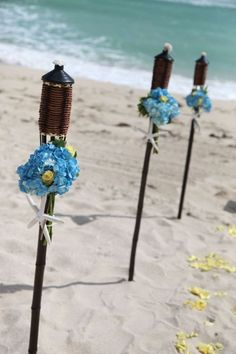 50 Beach Wedding Aisle Decoration Ideas | I like the idea of it being more minimalist with plainer lanterns and just a few flowers for accents