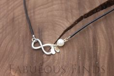 Black Leather Infinity Necklace Pearl & by loveFabulousFinds, $28.00