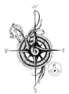 Resultado de imagen para compass sketch tattoo designs