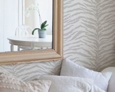 Large Wall Stencil Tiger Stripes Allover Stencil for Painted Wallpaper Pattern. $49.00, via Etsy.