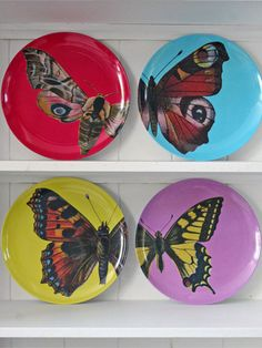 Butterfly plates #kitchen #design #plates