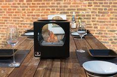 "Bio-Blaze Kaslik Small - 10"" Cube-Shaped Table Top Ethanol Fireplace (BB-KS)"